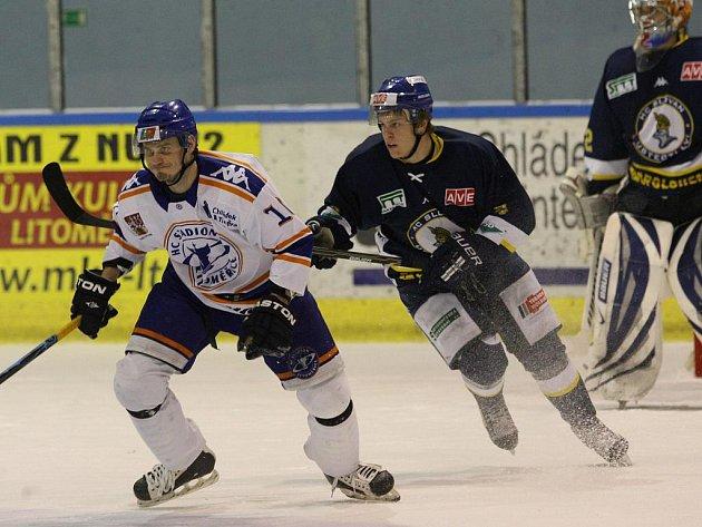 Ústečtí hokejisté rozhodli o vítězství v derby v Litoměřicích ve druhé a třetí třetině.