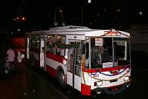 Mikulášský trolejbus v Ústí nad Labem.