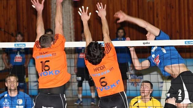 Ústecký smečař Jan Procházka nasbíral proti Ostravě devět bodů. Severočeši doma prohráli 0:3.