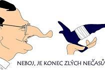 Karikatura Petr Nečas