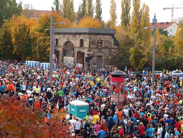 Čtrnáctý ročník Drážďanského maratonu.