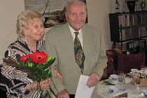 Oslavu narozenin si Vladimír Janský s manželkou užili.