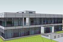 Vizualizace nové kancelářské budovy firmy Adler.