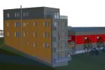 V nové hale, která roste mezi plaveckým areálem a Sportcentrem Sluneta, budou dvě basketbalová hřiště, malé hlediště, moderní zázemí a nová posilovna. Součástí stavby bude také bytový komplex.