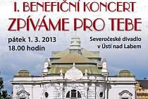 Benefiční koncert Zpíváme pro tebe se uskuteční 1. března od 18.00 hodin v Severočeském divadle opery a baletu.