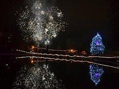 Rozsvícení vánočního stromu na Severní Terase
