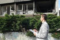 K nucené dražbě si obhlédl hotel Máj odhadce Milan Bálek. Jen stržení by podle něj mohlo stát kolem 40 milionů.