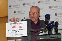 Hejtman Ústeckého kraje Oldřich Bubeníček informoval o krajské krizové lince.