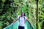Ondřej Boreš z Ústí nad Labem v Národním parku Monteverde ve středoamerické Kostarice.