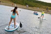Aktivity na jezeru Milada. Archivní foto