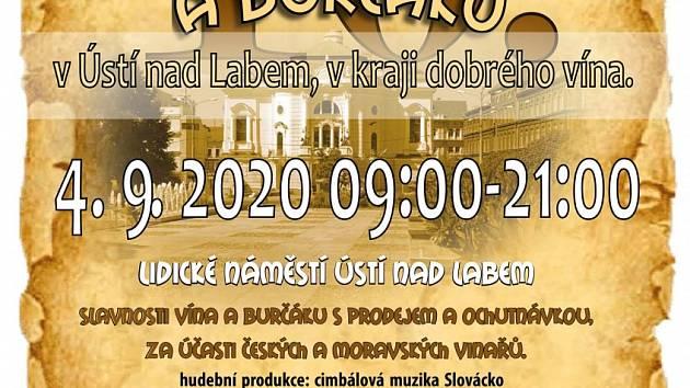 Slavnosti vína a burčáku Ústí nad Labem 2020