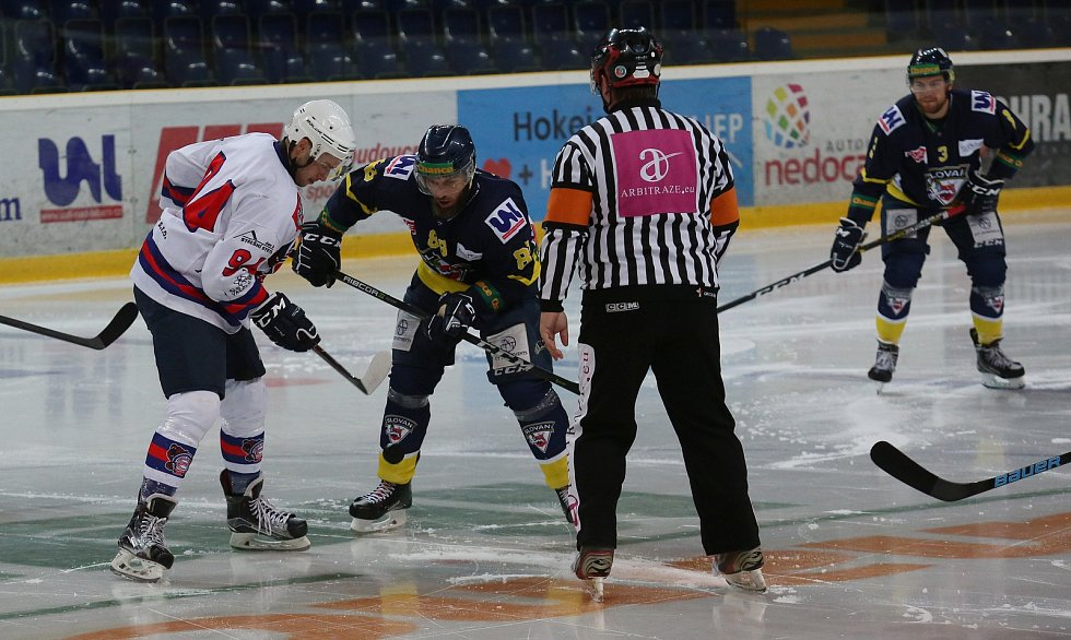 Hokej, přátelské utkání mezi Ústím a Děčínem 2019
