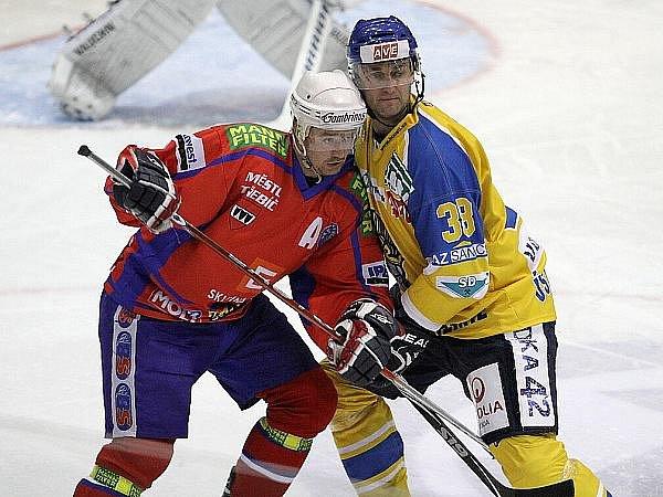 Z hokejového klání mezi Ústeckými Lvy a Třebíčí.