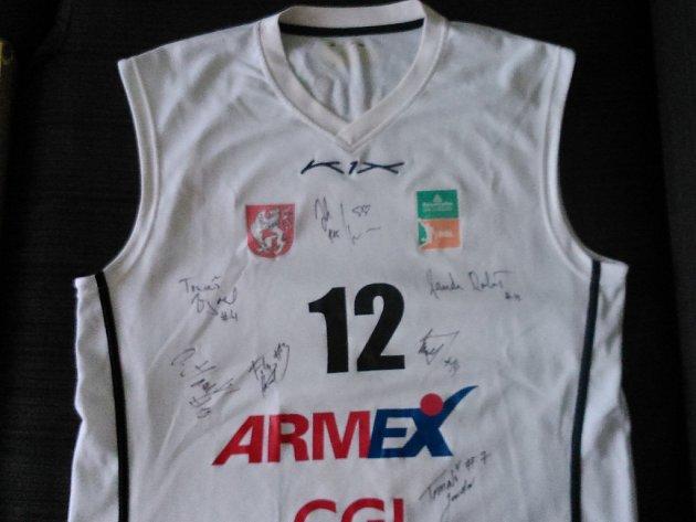 Podepsaný dres BK Armex Děčín.