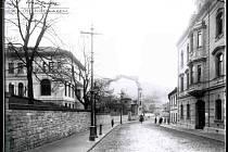 Fotografie Velké Hradební, okolo roku 1916.
