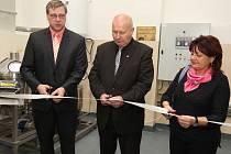 Ředitel školy Michal Šidák (vlevo na fotografii)