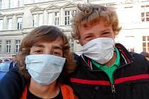 Studenti chtěli upozornit na špatný stav ovzduší.