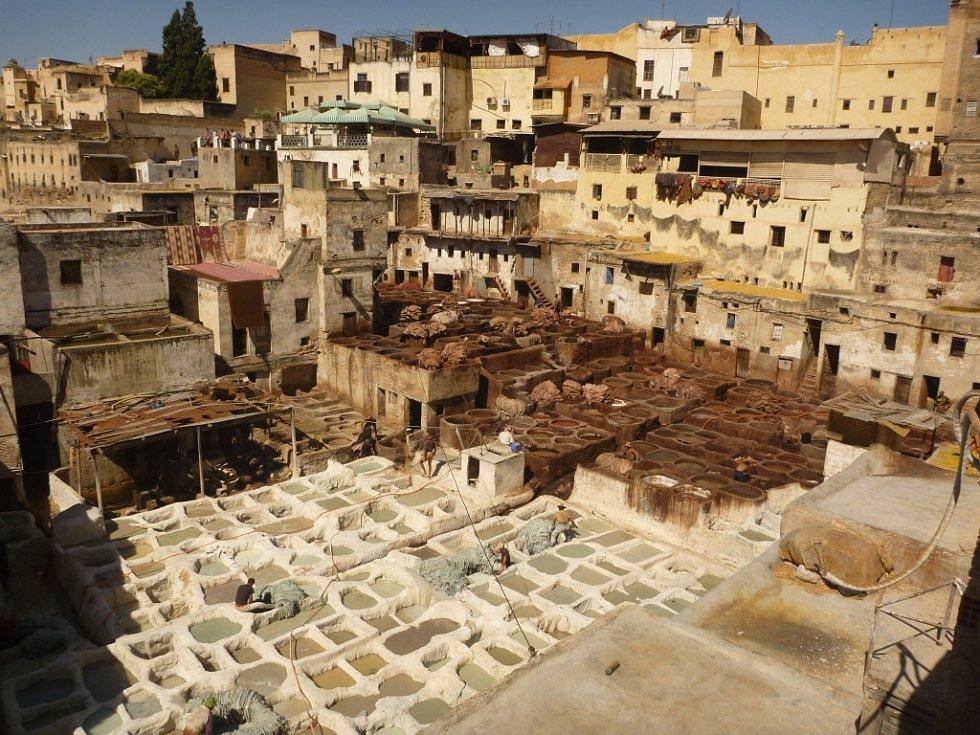 Autorkou fotky z královského města Fes v Maroku známého zejména produkcí kožených výrobků je Lucie Ovšonková z Obory na Lounsku.