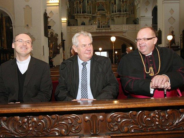Prezident Miloš Zeman v Litoměřicích.