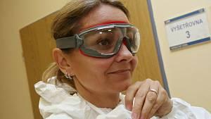 Stanice infekčního oddělení ústecké nemocnice pro lidi s podezřením na koronavirus