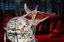 Snímek z představení Popelka na ledě.