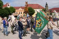 Průvod jamboree v Miletíně.