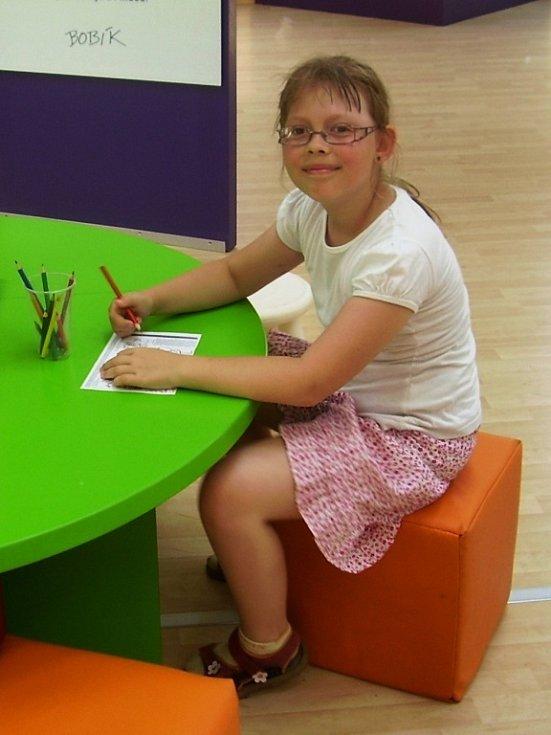 23. KAČENKA BARTOŠOVÁ, 9 let, Řehlovice.