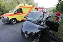 Dopravní nehoda u Prackovic nad Labem.
