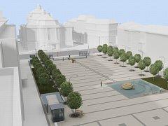 Studie podoby Lidického náměstí od architekta Zdeňka Havlíka.