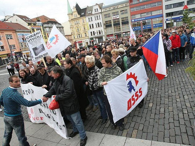 Ústí zažilo protestní pochod.