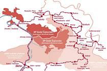 Mapa železnice.