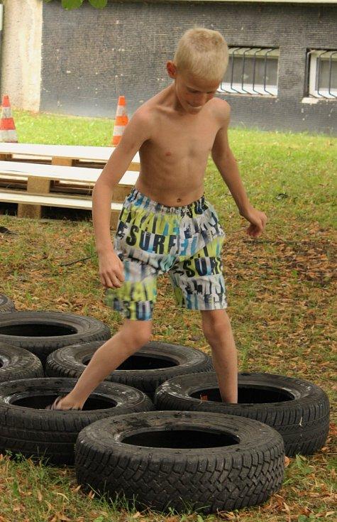 Dětem se sportovní odpoledne na cyklostezce moc líbilo.