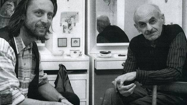 """Bulat Okudžava a Jiří Vondrák se setkali i v Semaforu. """"Tuším, že to bylo 1. 11. 1995,"""" vzpomíná režisér z Brna."""