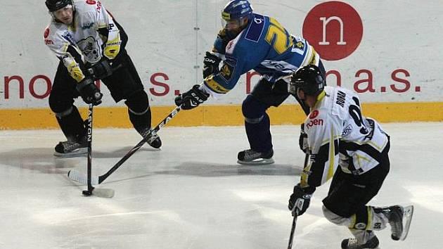 Hokejisté Kadaně hostili na své ledové ploše Ústecké lvy.