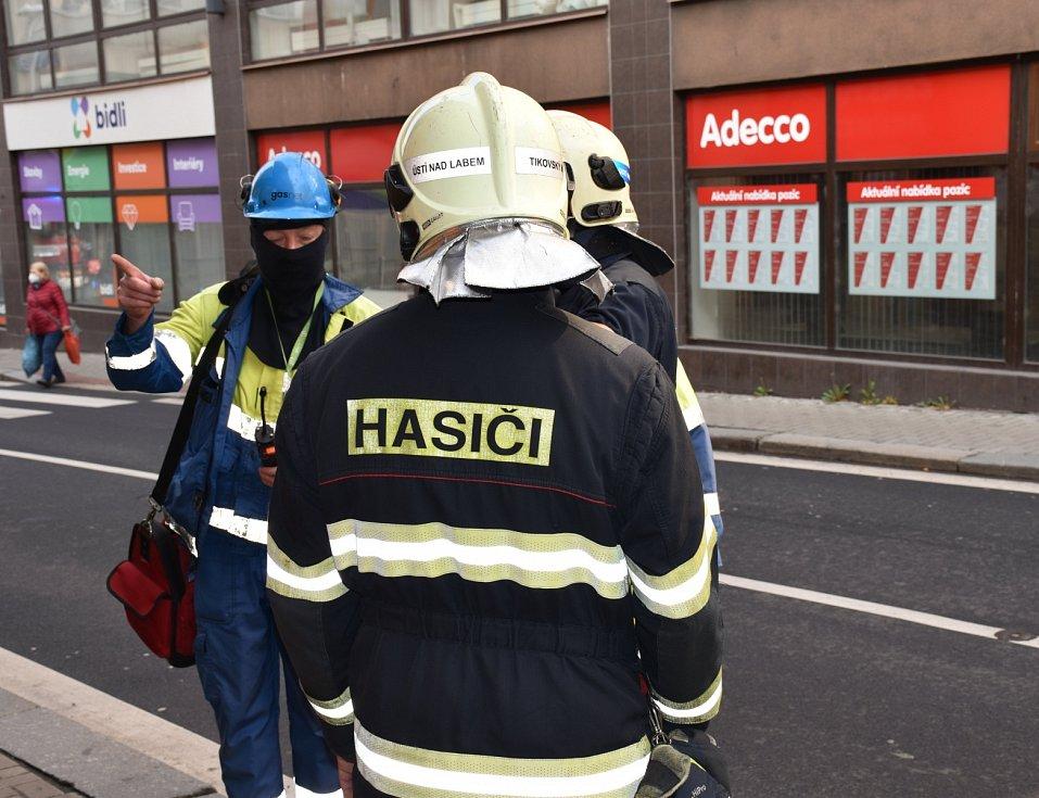 V centru Ústí lidé ucítili zápach plynu
