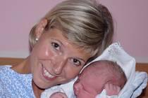 Michala Vondrušková,  porodila v ústecké porodnici dne 10. 9. 2012 (7.44) syna Adama (52 cm, 4,18 kg).