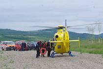 Letečtí záchranáři cvičili na Miladě.