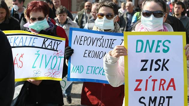 Demonstrace proti kalům