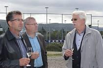 Slavnost poklepání na základní kámen nové haly v Ústí n/L - Klíši  18.9. 2019. Na akci dorazil i šéf SKV Ústí Miroslav Přikryl (vpravo).