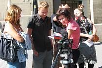 Natáčení dokumentárního filmu v Ústí