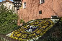 Žitavské unikátní květinové hodiny, u Řeznické bašty, zvoní každou hodinu.