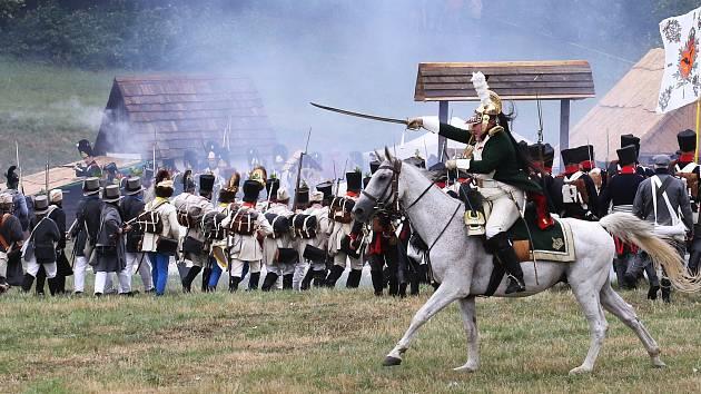 Rekonstrukce bitvy u Chlumce.