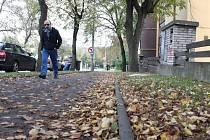 Na ústecké chodníky padá ze stromů stále nové a nové listí a často se zde po jejich uklizení objeví nové. Pokud do něho začne pršet, může být nebezpečné jako zimní ledovka.
