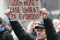 Proti komunistům. Jedna demonstrace už v Ústí byla.