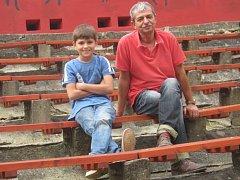 Pavel Dobeš se synem Jakubem.