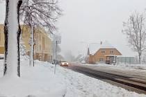 Sněhová nadílka zkomplikovala dopravu v Tisé