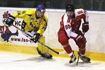 Ústečtí hokejisté (žlutí) prohráli v Olomouci 0:2.