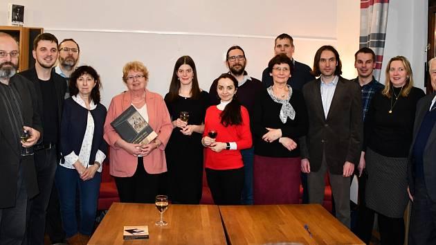 Z prezentace Českého historického atlasu v knihkupectví Academia Praha (únor 2020)