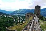 Výhled z hradu Střekov.