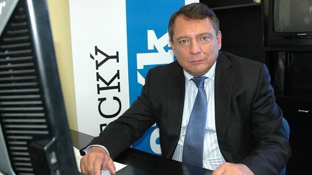 Jiří Paroubek při online rozhovoru v redakci Deníku.